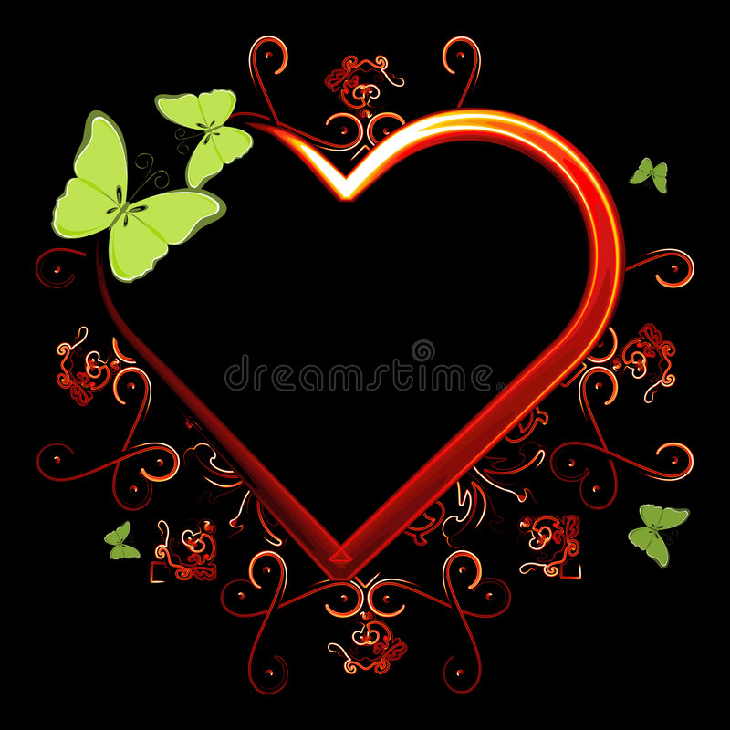 Download Heart on fire stock vector. Image of illustration, black - 4747629