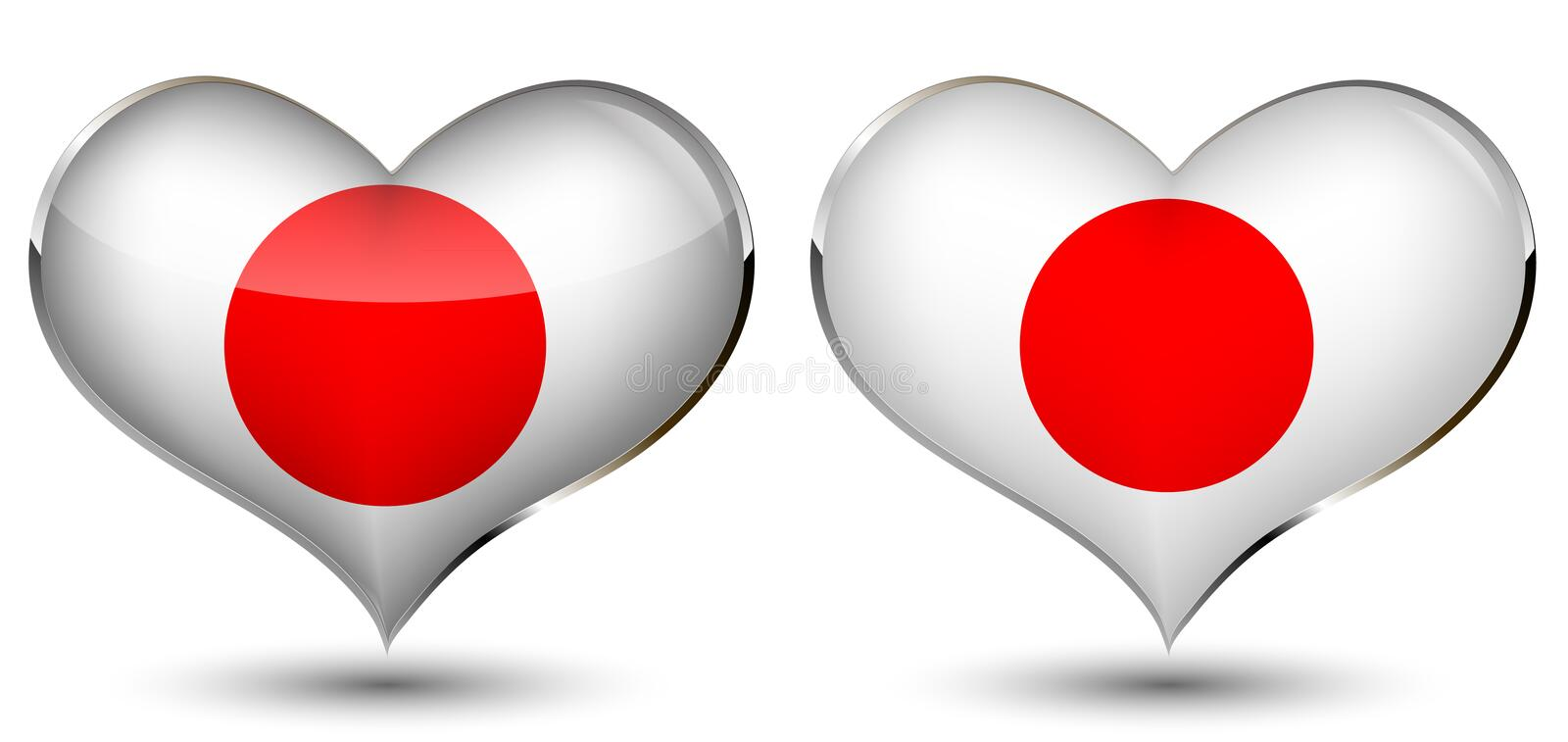 A heart with the flag of japan royalty free illustration