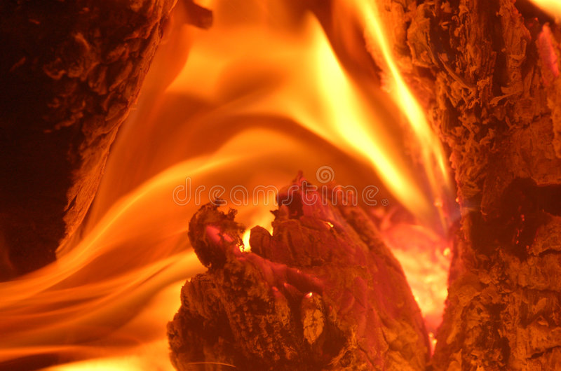 Heart of the flame stock photo