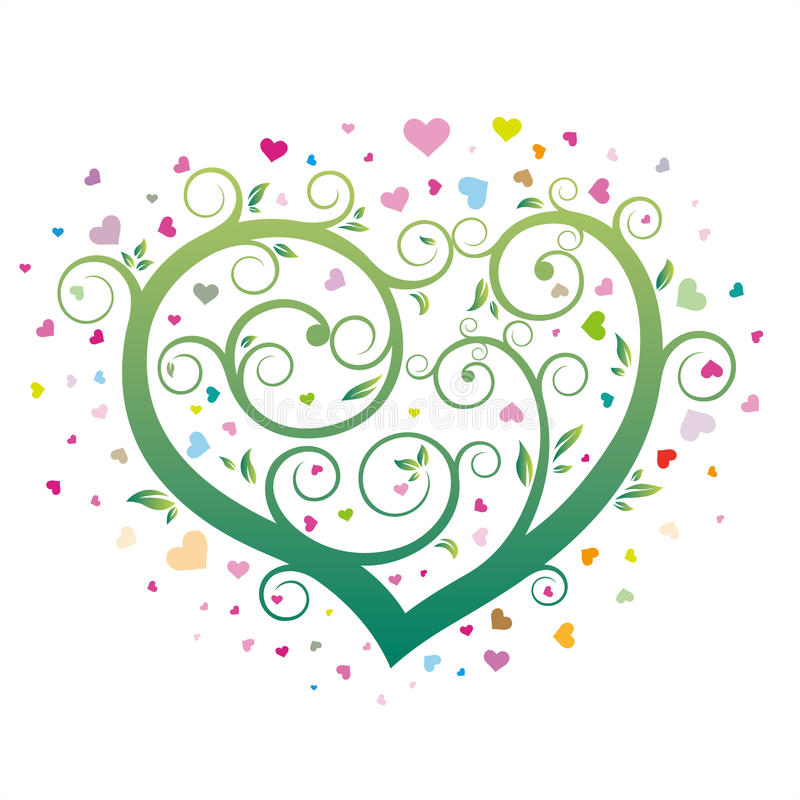 heart floral royalty free illustration