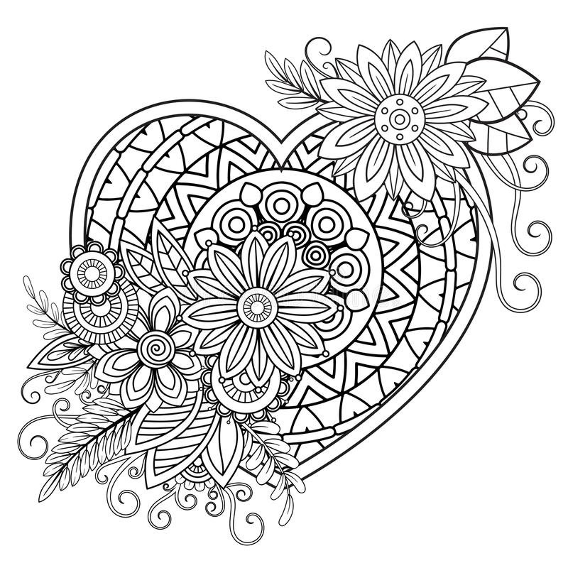 Happy Valentine's Day coloring page | Free Printable Coloring Pages | 800x800