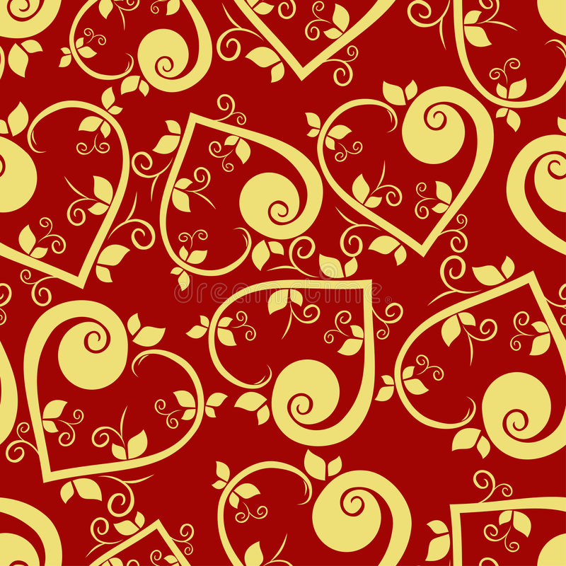 Heart floral seamless pattern royalty free stock images