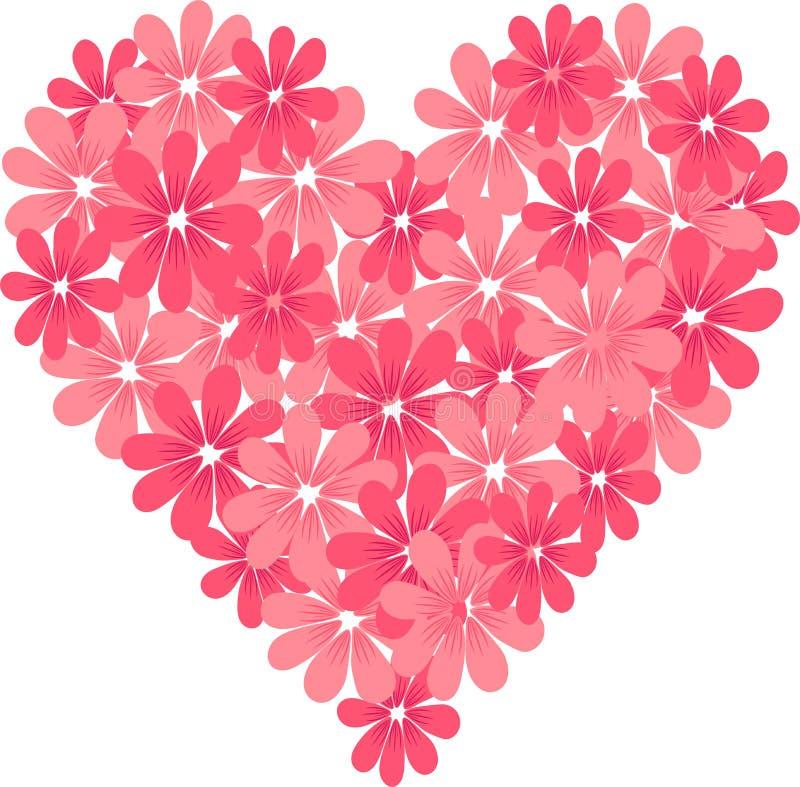 Heart_of_flowers fotografia stock