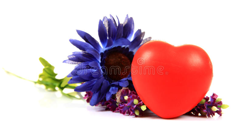 Download Heart and flowers stock image. Image of heart, background - 20181235