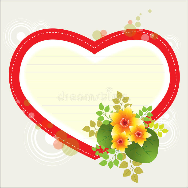 Heart with flowers royalty free illustration