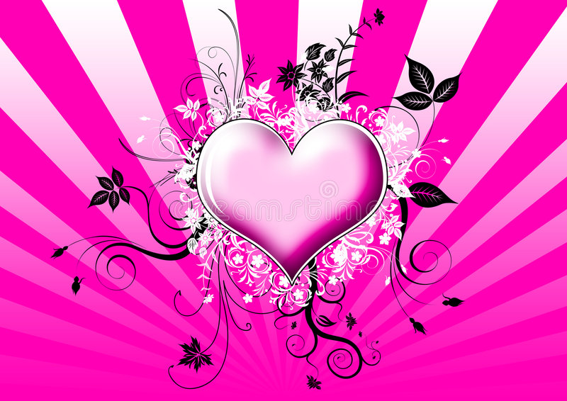 Download Heart with flowers stock illustration. Image of beautiful - 8604944