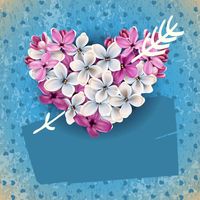 Download Heart From Flowers Of A Lilac Stock Vector - Image: 22957105