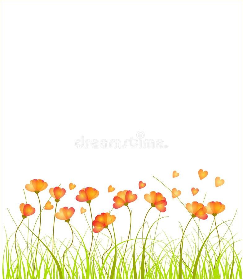 Heart flowers. Vector illustration background royalty free illustration