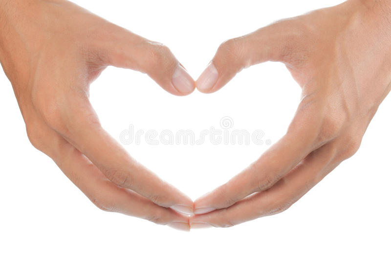 Heart form by hand royalty free stock images