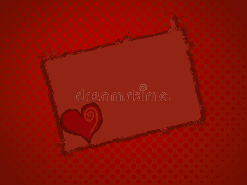 Heart frame. Frame of heart with text message royalty free illustration