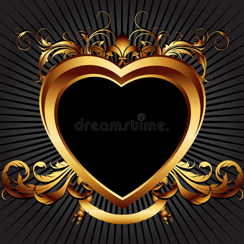 Download Heart frame stock vector. Image of beautiful, decor, ornate - 14850489