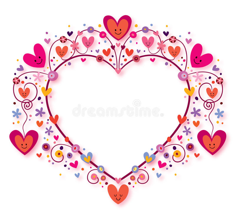 Download Heart frame stock illustration. Image of beauty, congratulation - 27908866