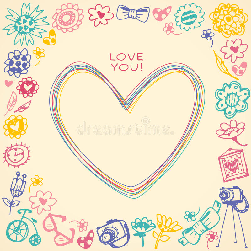 Heart frameft card and sample text stock vector illustration download heart frameft card and sample text stock vector illustration of card yadclub Gallery