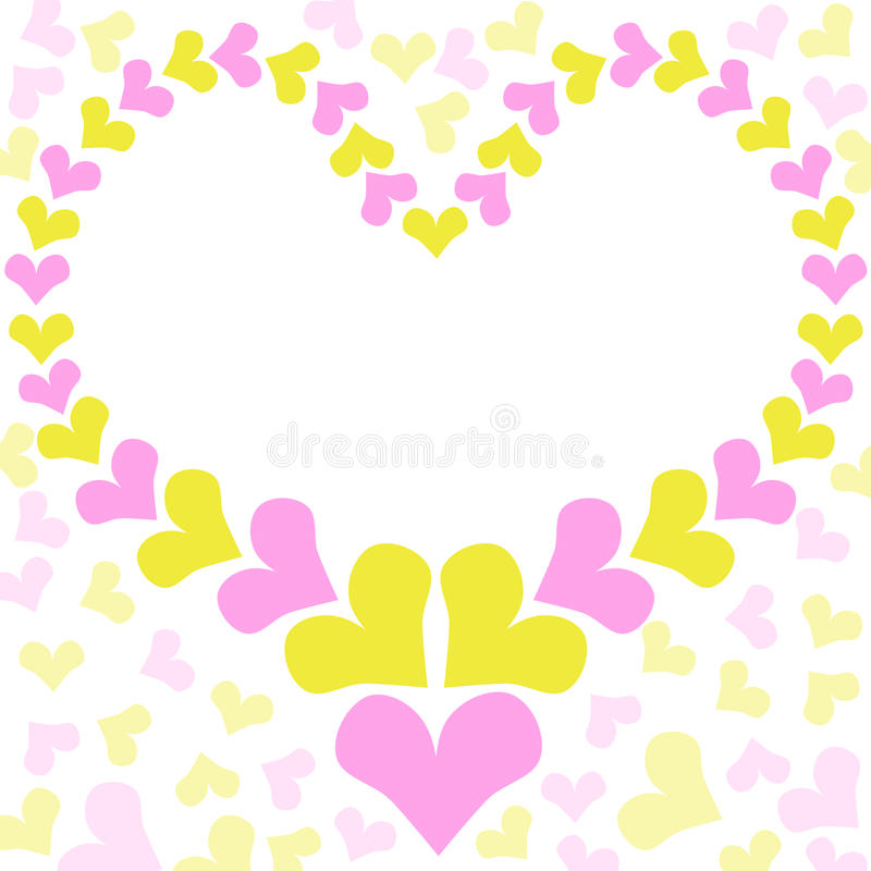 Heart Frame Mothers Day Card stock photo