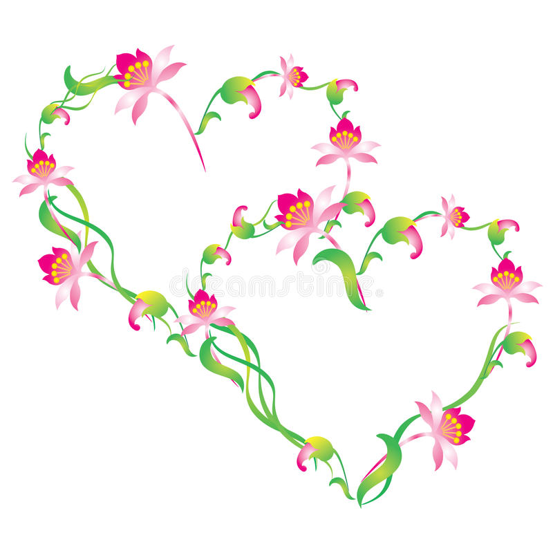Free Heart, Framed By Flowers. Royalty Free Stock Photography - 17914737
