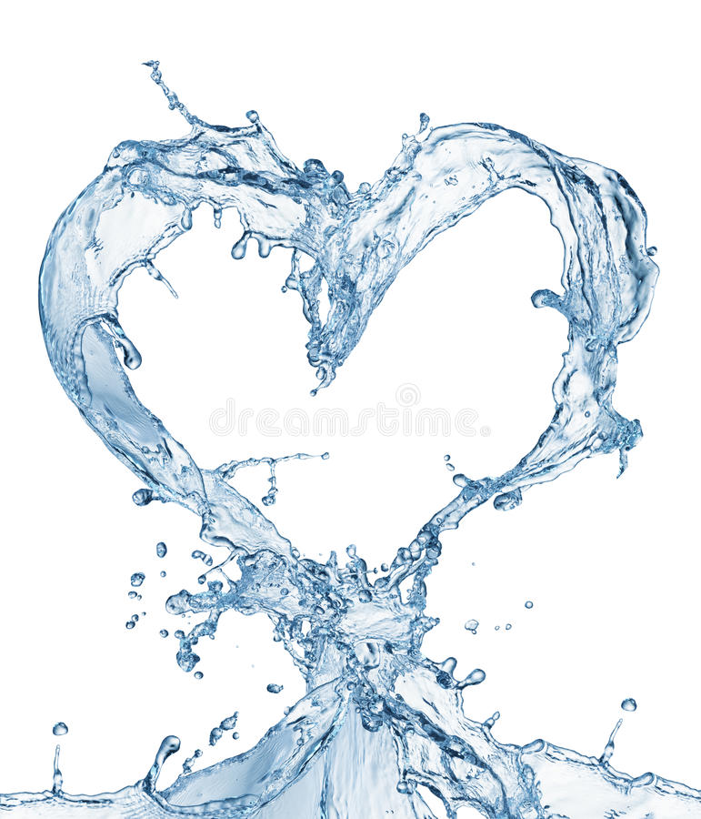 Free Heart From Water Splash With Bubbles Royalty Free Stock Photo - 50177405