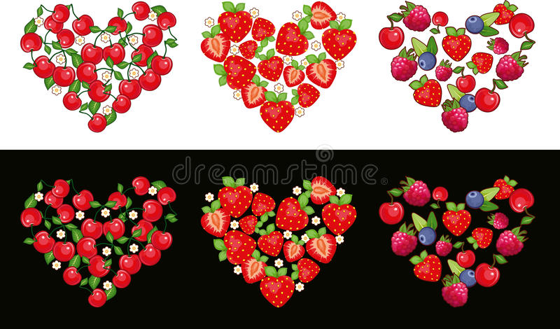 Download Heart Fruit Set stock vector. Illustration of fruit, shape - 23114462
