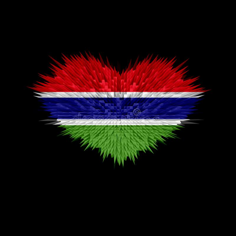 The Heart of Gambia Flag. stock photo
