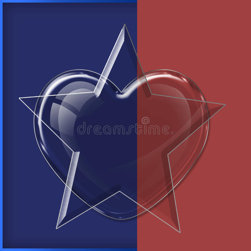 Heart glass collection stock illustration
