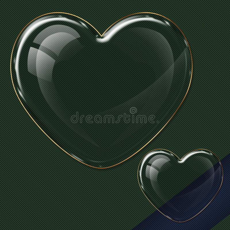 Heart glass collection royalty free illustration
