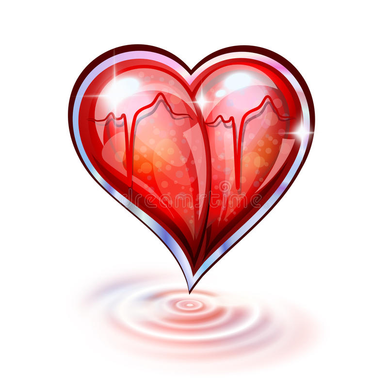 Heart Of Glass Royalty Free Stock Images