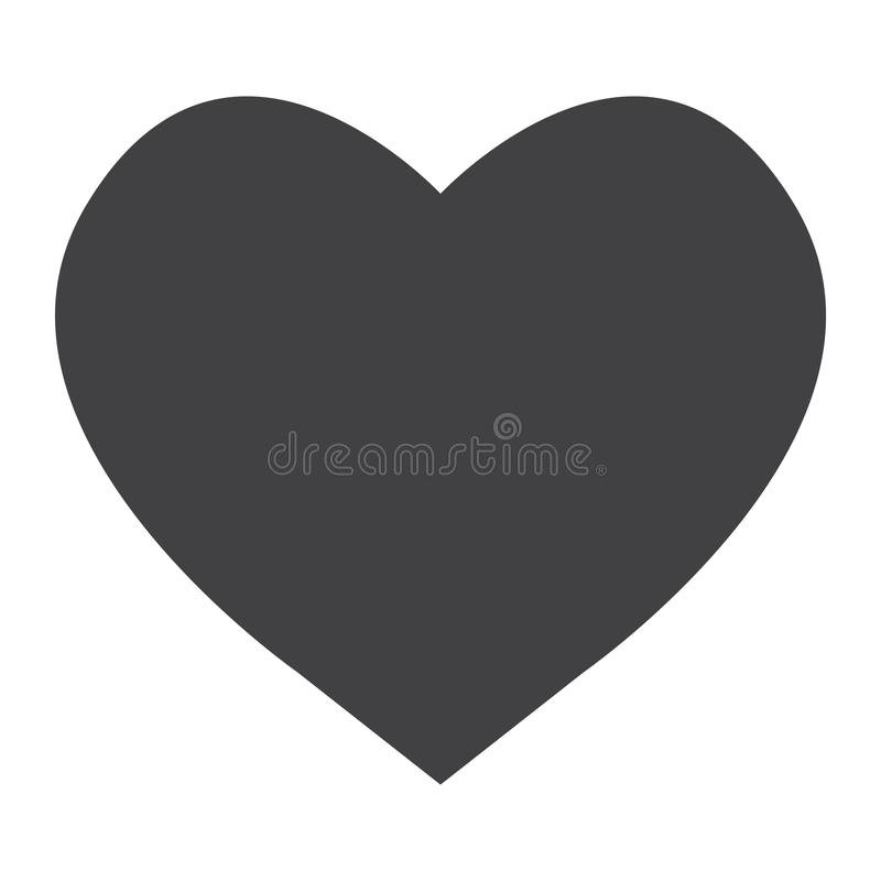 Heart glyph icon, web and mobile, love sign vector stock illustration