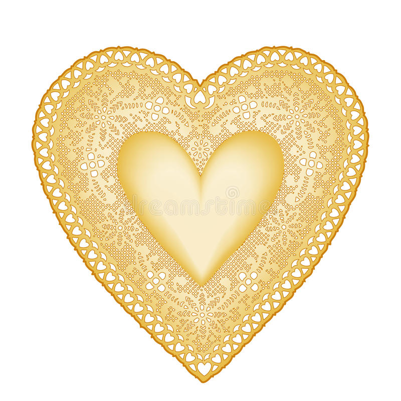 Download Heart of Gold stock vector. Image of illustration, dear - 16243715