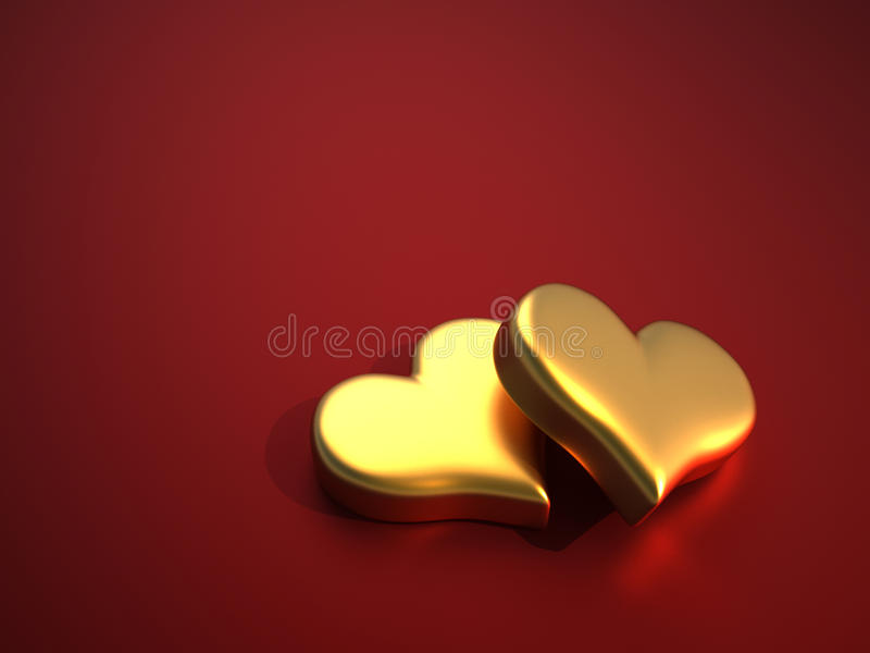 Heart of gold royalty free illustration