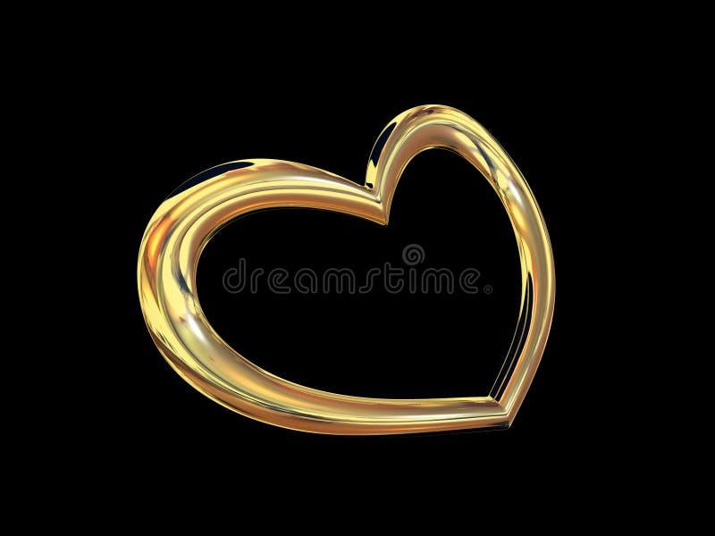 Heart gold costume jewellery royalty free stock photo
