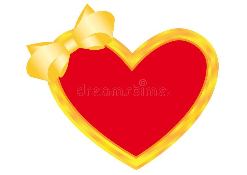 Heart gold vector illustration