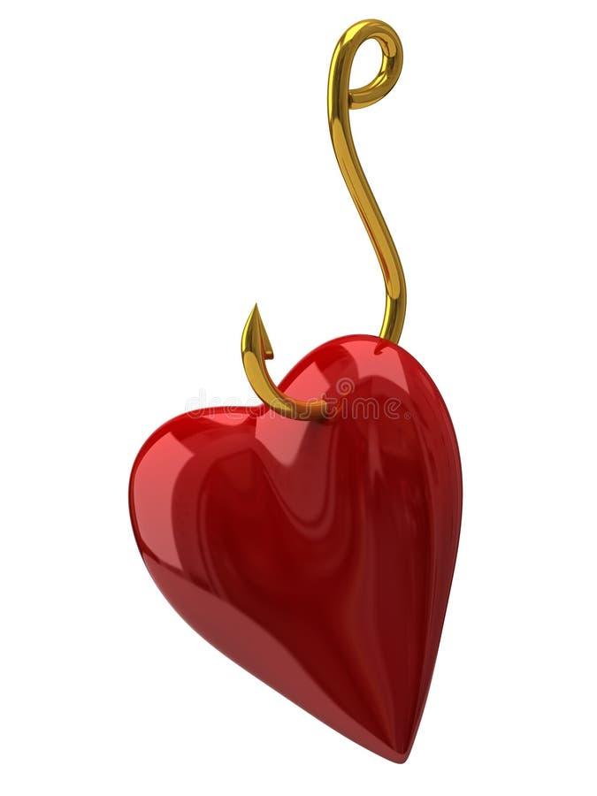 Download Heart on the golden hook stock illustration. Illustration of angle - 28837689