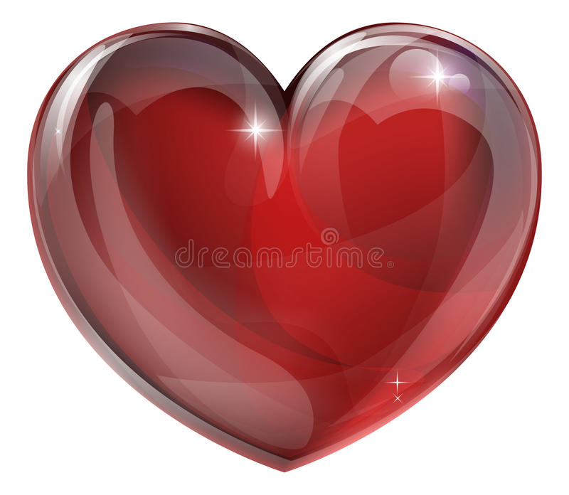 Heart graphic royalty free illustration