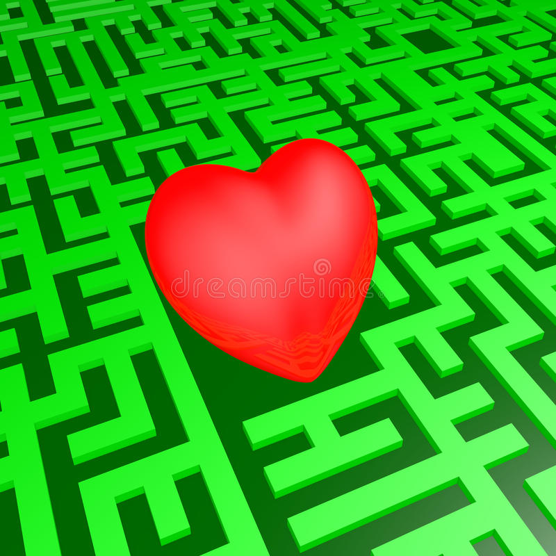 Download Heart in green labyrinth stock illustration. Image of object - 33471506