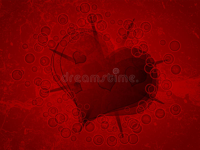 Download Heart on grunge background stock vector. Image of heart - 23064458