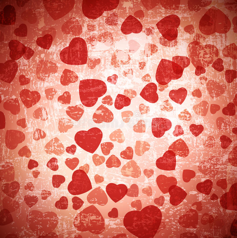 Heart grunge background stock illustration
