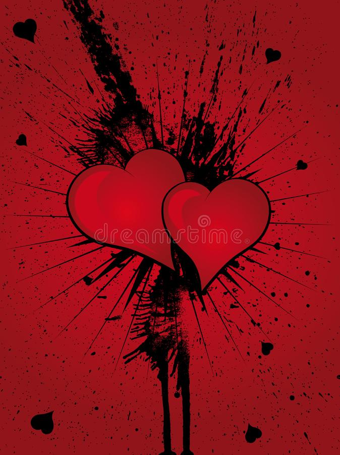 Heart Grunge Splatter royalty free stock photo