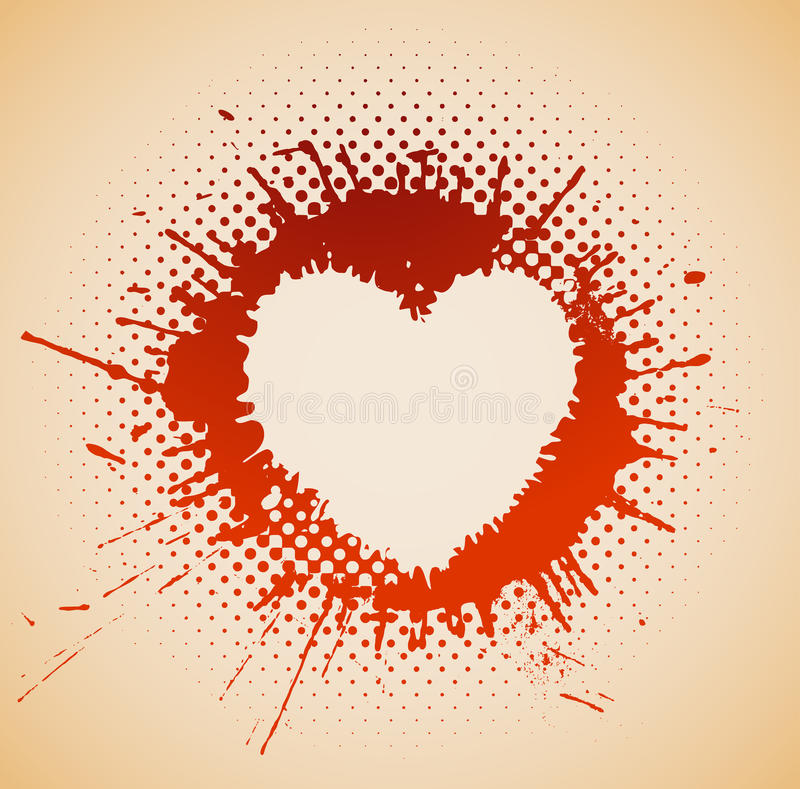 Download Heart on a grunge spot stock vector. Image of couple - 23289165