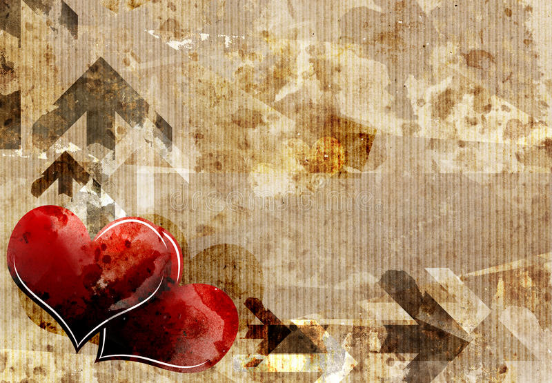 Download Heart On Grungy Carton Paper Stock Illustration - Image: 25618115