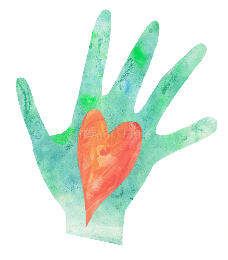 Download Heart in Hand stock photo. Image of watercolor, hand, love - 6551600