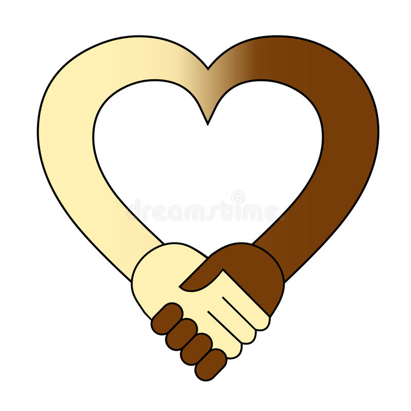 Download Heart hand shake stock vector. Image of friendship, diversity - 21300735