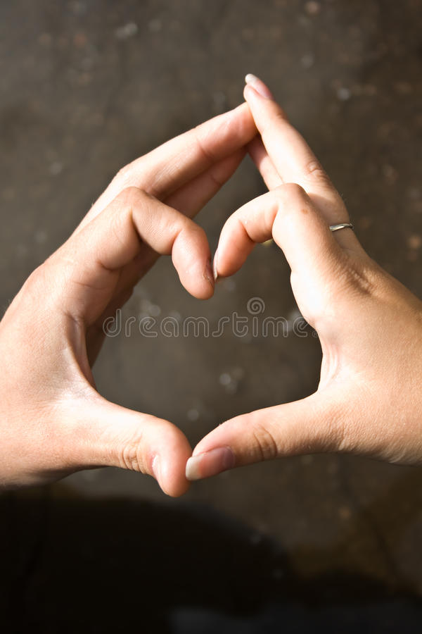 Heart From Hands Stock Photos