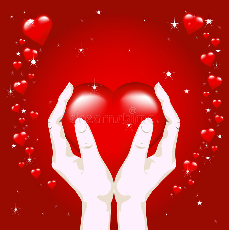Heart In Hands Stock Images