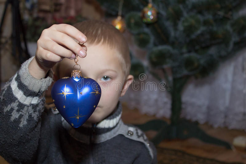 Heart in the hands of the New Year royalty free stock image
