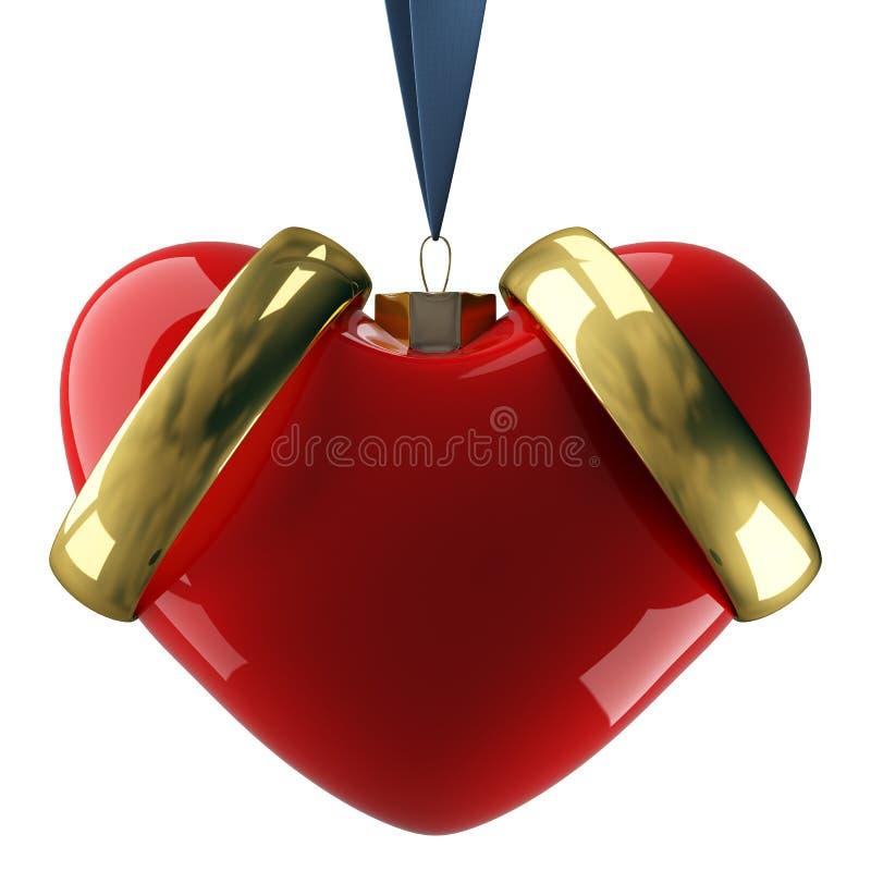 Download Heart hanging on a ribbon. stock illustration. Illustration of celebration - 7709340