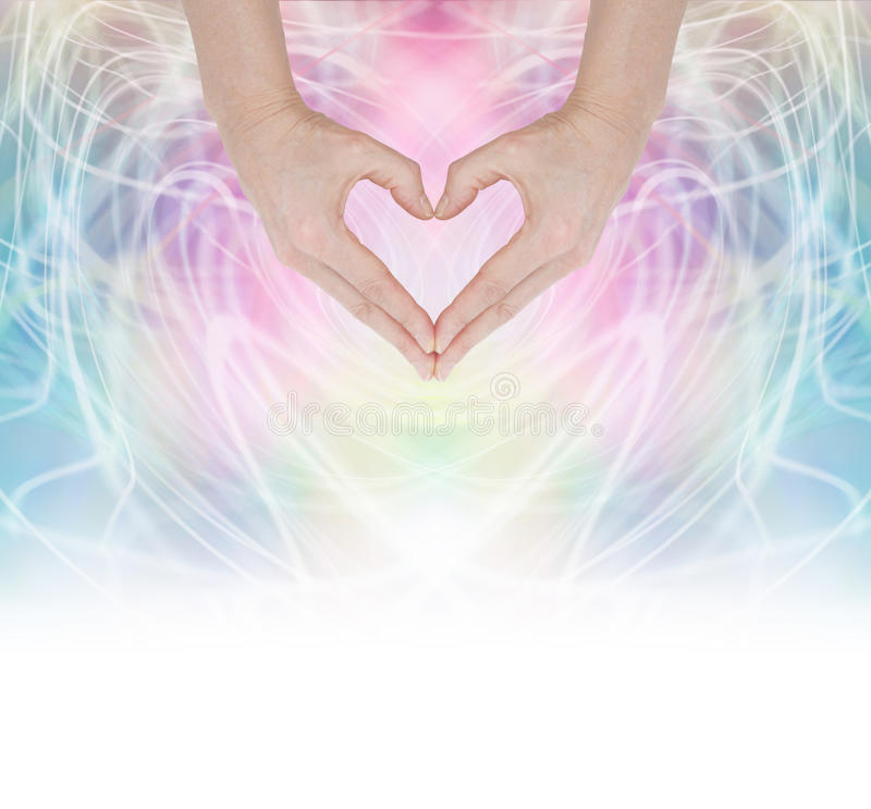Heart Healing Energy stock image