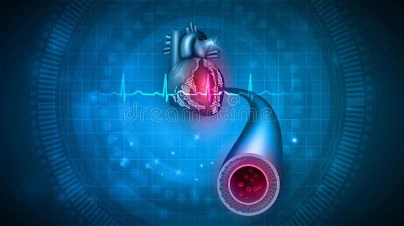Heart health care stock illustration