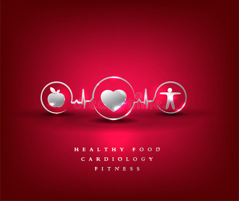 Heart health care, health symbol royalty free illustration
