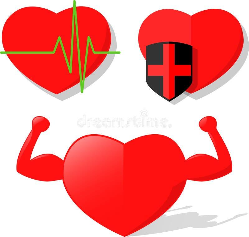 Heart Health Pulse Strength Vector stock image