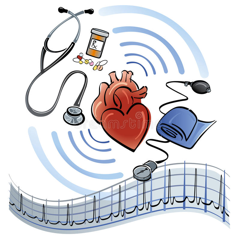 Download Heart Healthcare stock vector. Image of cardiac, graph - 14158681