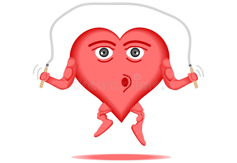 Heart healthy 3 stock illustration